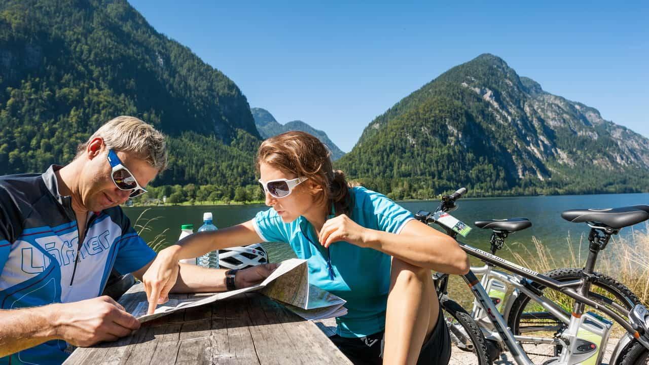 Cykling i Salzkammergut vid Hallstatt med Austria Travel