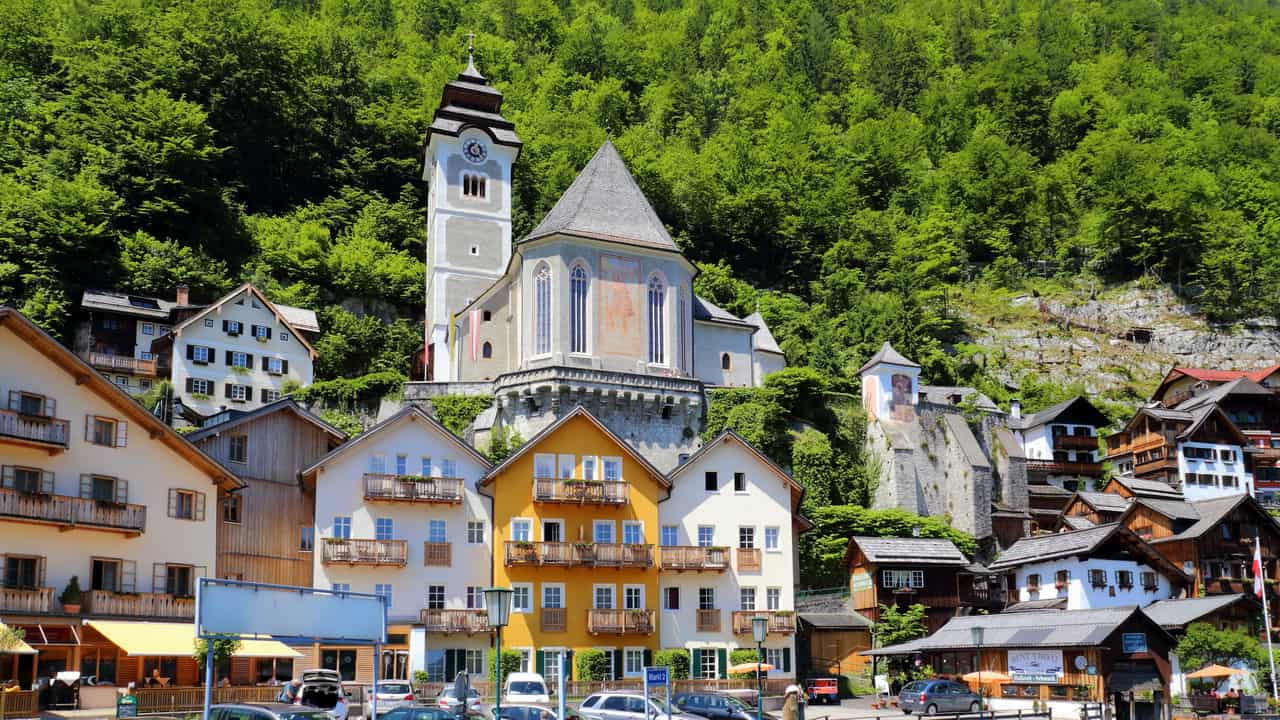 Katolska kyrkan Hallstatt Semester i Österrike