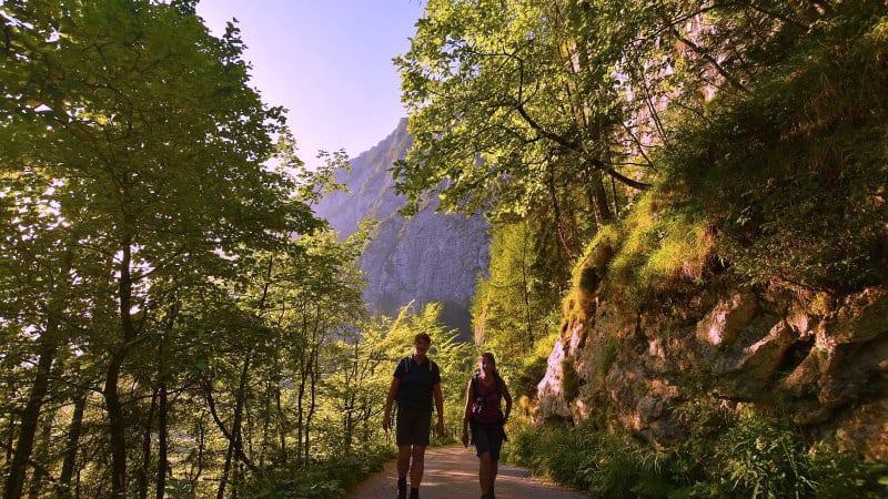 Echerntal i Hallstatt med blick på Dachstein Semester i Österrike