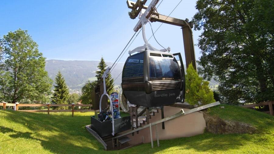 Världens enda golf gondola finns i Schladming!