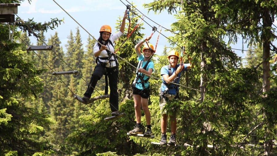 Många äventyr på Abenteuerpark Planai