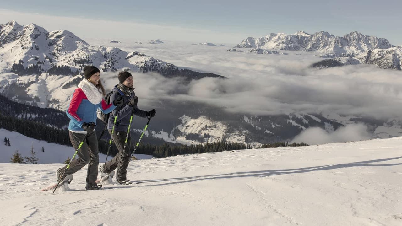 Snöskorvandring Saalbach Hinterglemm - Saalfelden Leogang