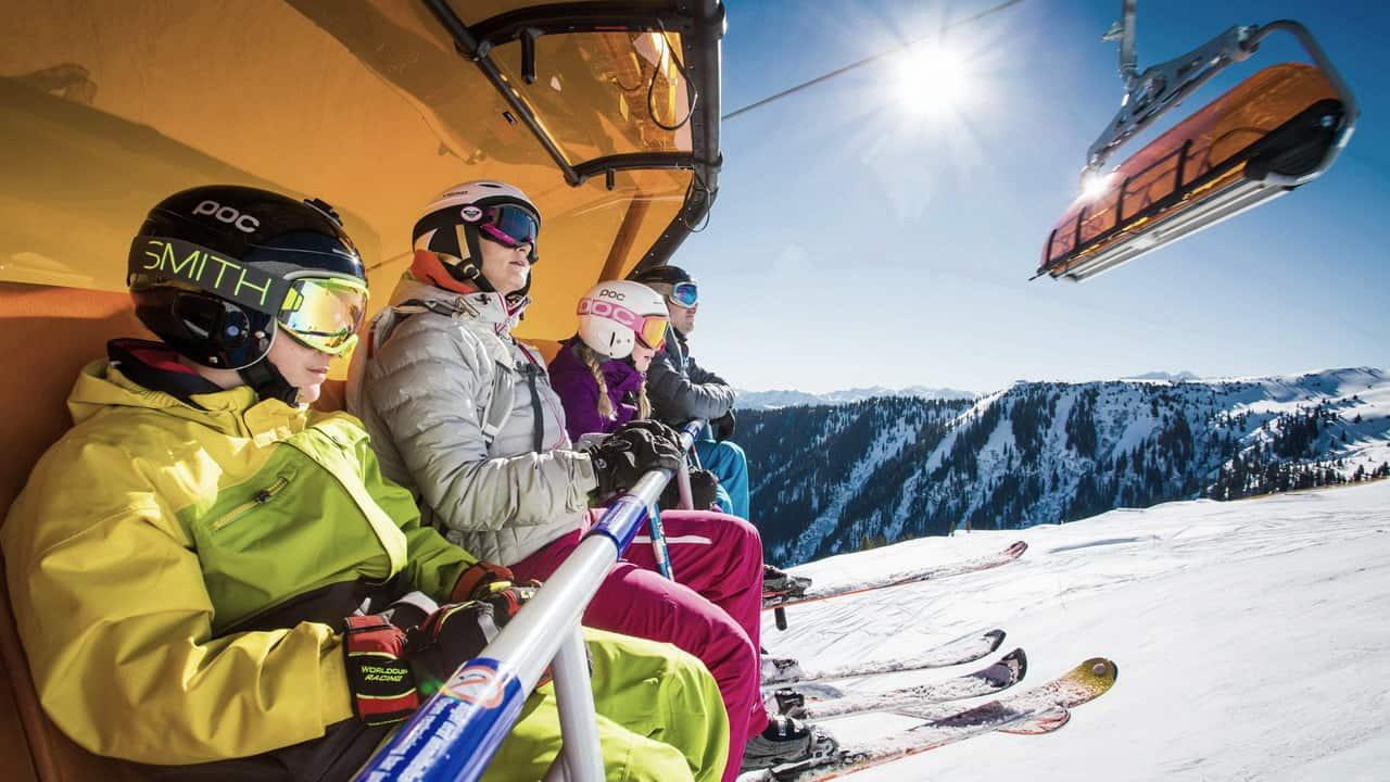 70 liftar Saalfelden Leogang alpin skidåkning Österrike