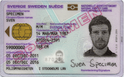 svenskt nationellt ID-kort