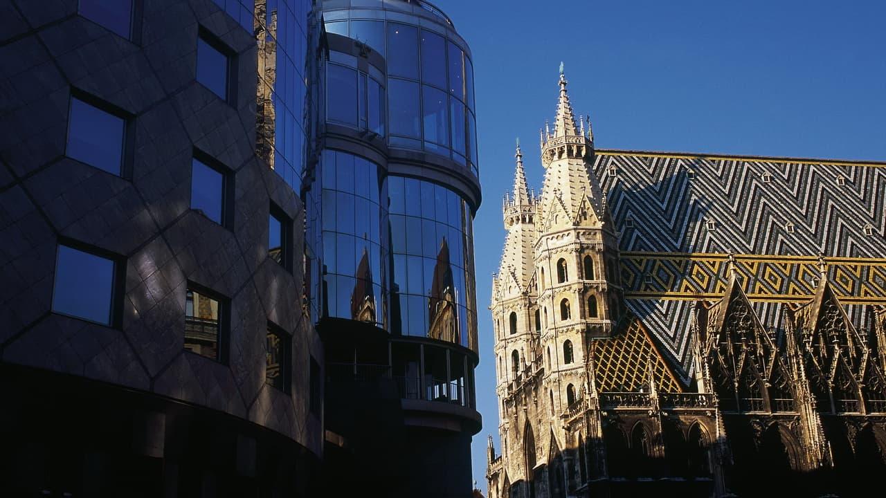 Stephansplatz med Stephansdom Wien Österrike