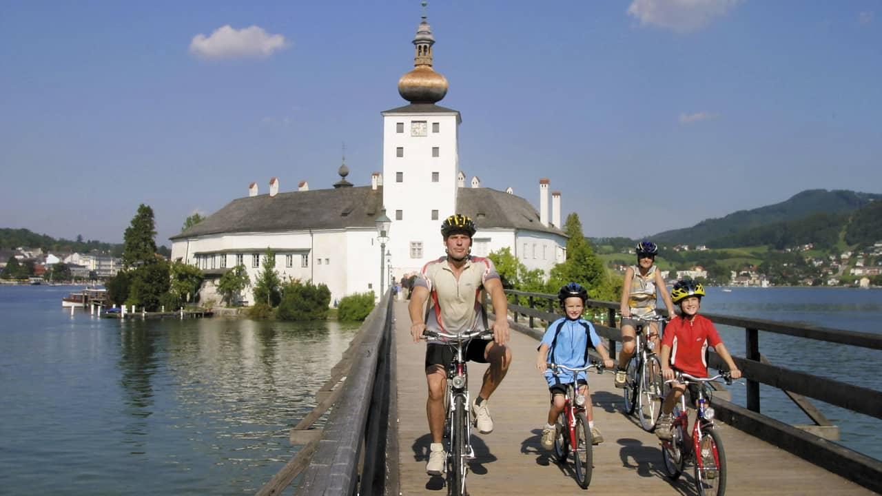 Gmunden och Schloss Orth