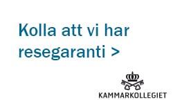 Logo kammarkollegiet resegaranti
