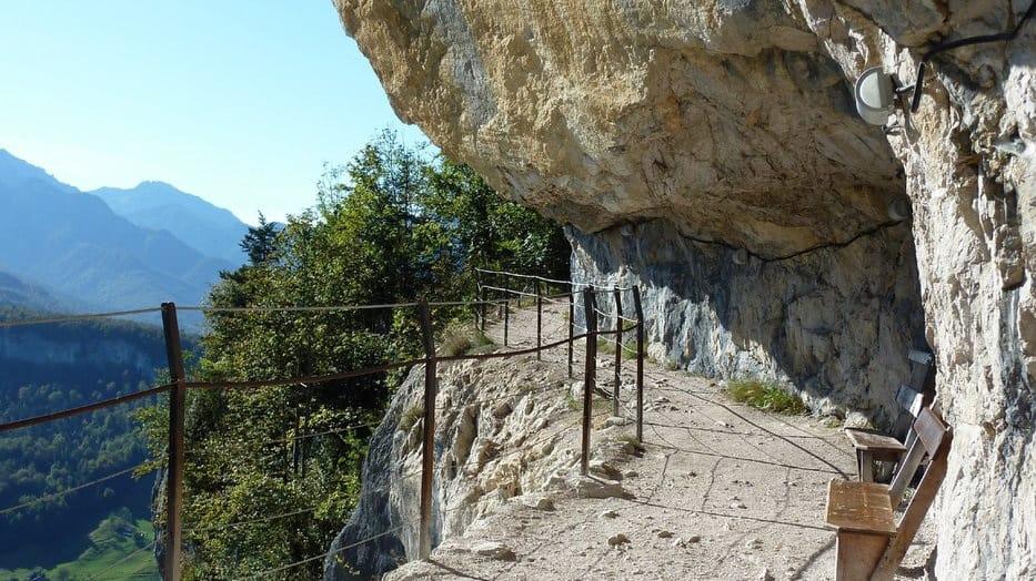 Predigstuhl vid Ewige Wand, den eviga väggen Semester i Österrike