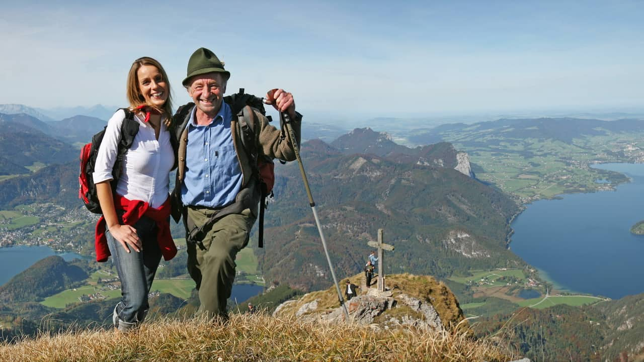 Vandra på Schafberg - semester cykelsemester i Österrike
