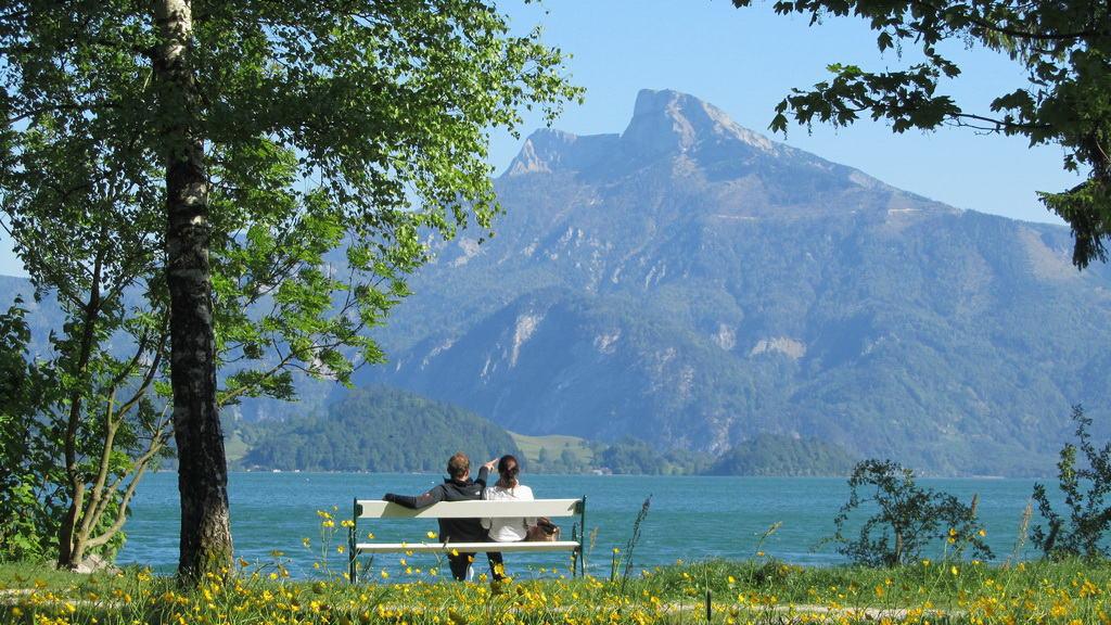 Vandra i Salzkammergut: Mondsee med blick på Drachenwand
