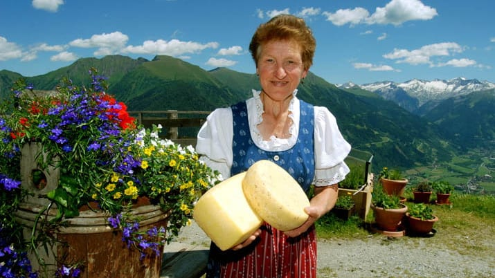 Ostproduktion på Biberalm Semester i Österrike Alperna