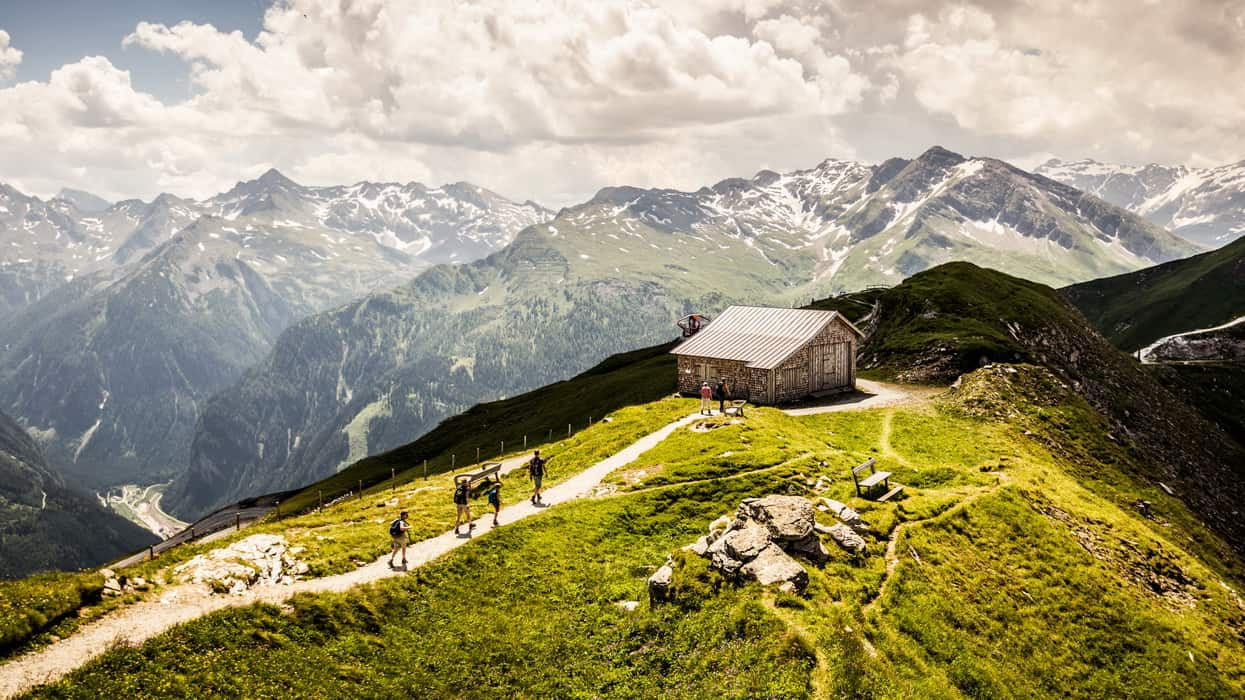 Stubnerkogel med blick på Hohe Tauern Gasteinertal