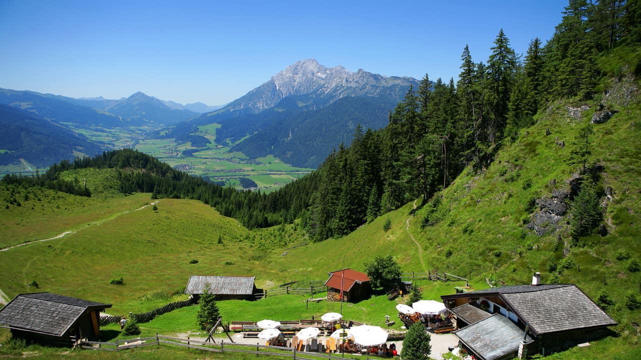 Vandring Hüttor Zell am See Semester i Österrike