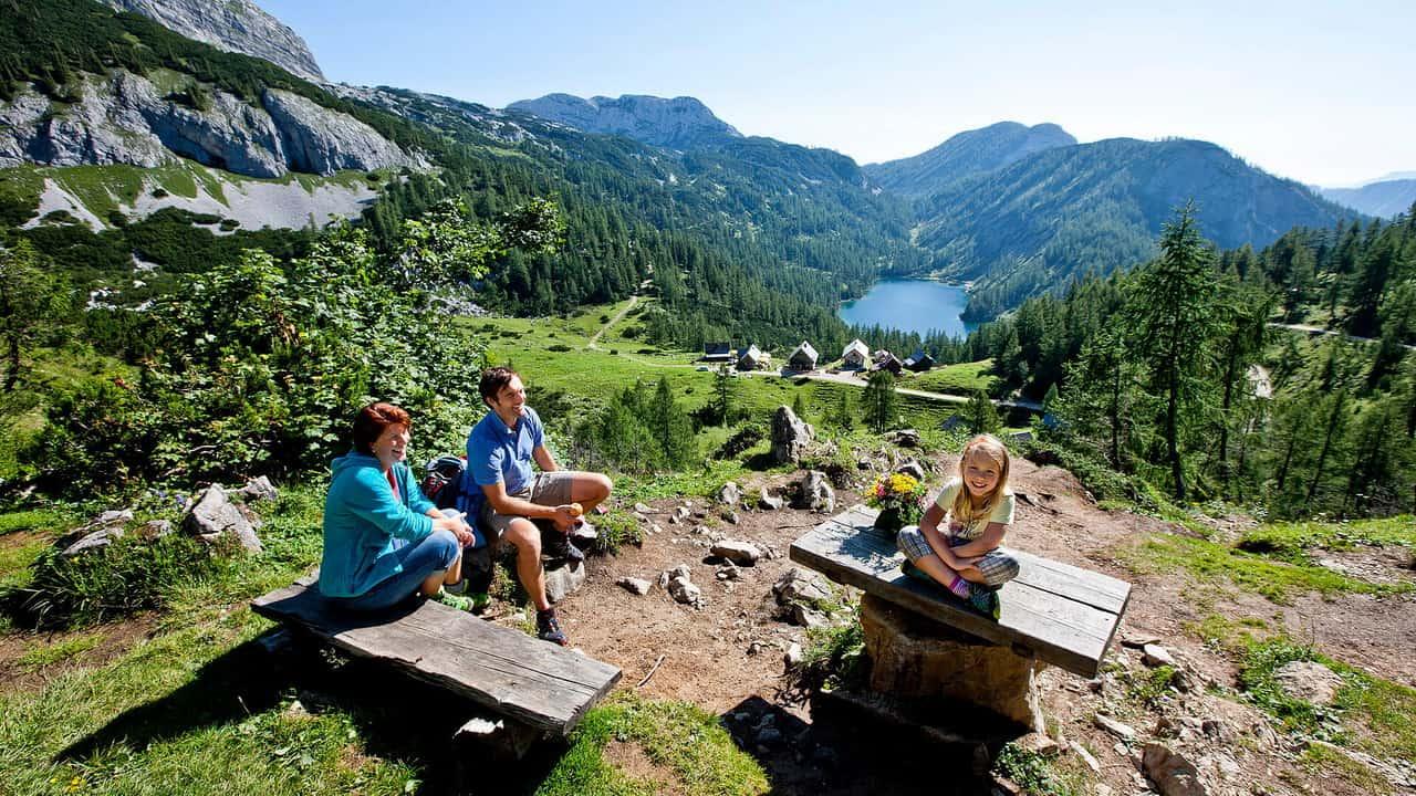 Ausserland Steirersee - Salzkammergut - vandring semester i Österrike