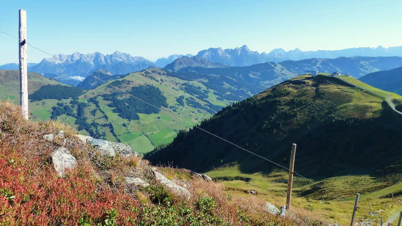 Utsikt ovanför Hinterglemm Semester i Österrike