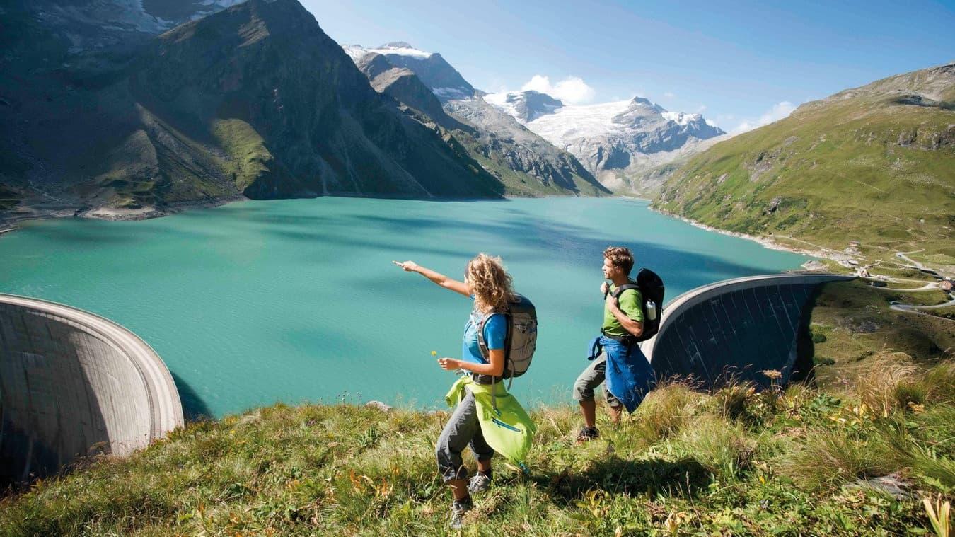 Utsikt vandring - Saalbach Hinterglemm - Saalfelden Leogang - semester i Österrike