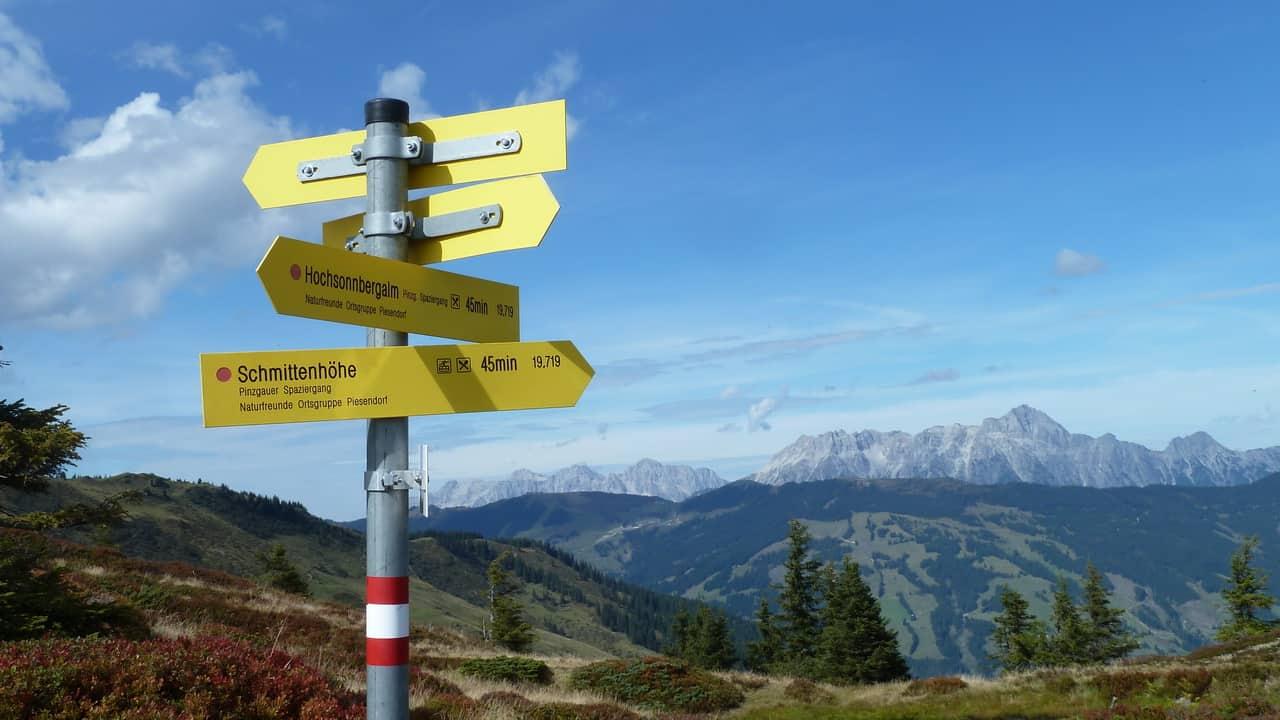 Vandring med guide mot Schmittenhöhe