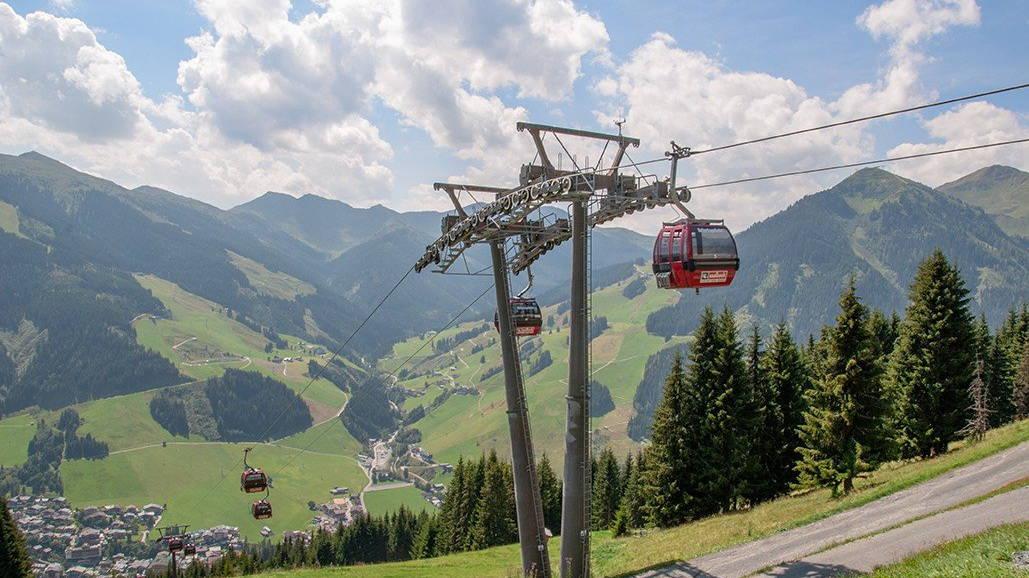 Reiterkogelbahn Saalbach Tourismusverband Semester i Österrike