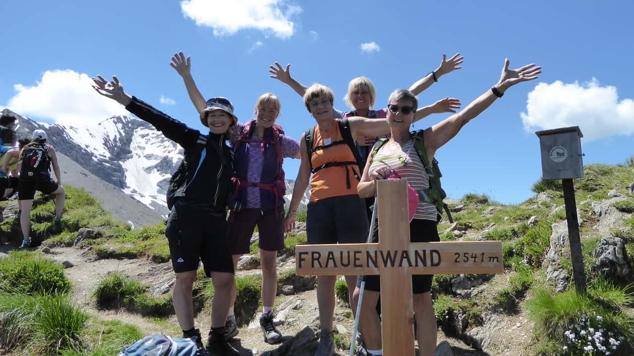Vandring med guide Frauenwand © Austria Travel - Rusner Semester i Österrike Zillertal