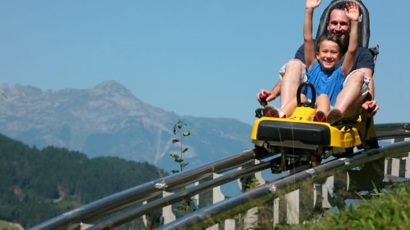 Sommerrodelbahn Maisflitzer på Maiskogel Saalbach Hinterglemm Semester i Österrike