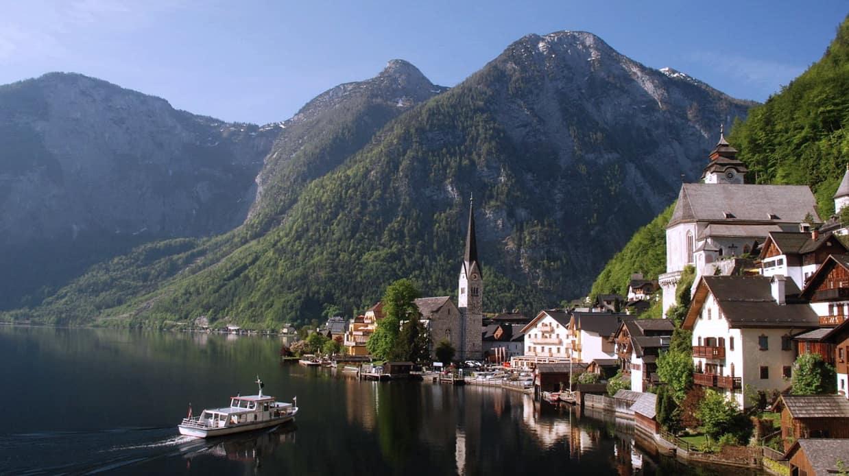 Vackra Hallstatt Semester i Österrike