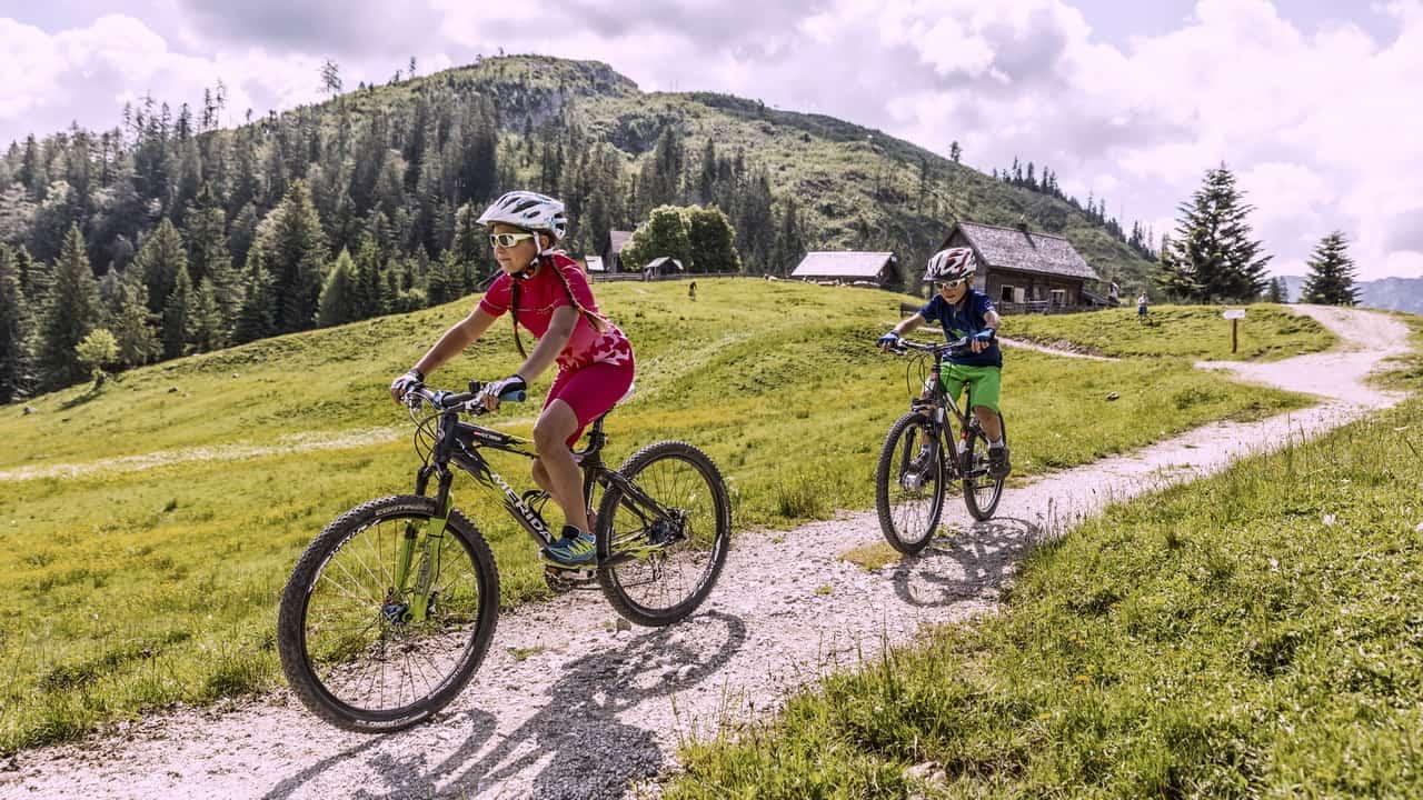 MTB i Bad Goisern- Hütteneck cykelsemester semester i Österrike