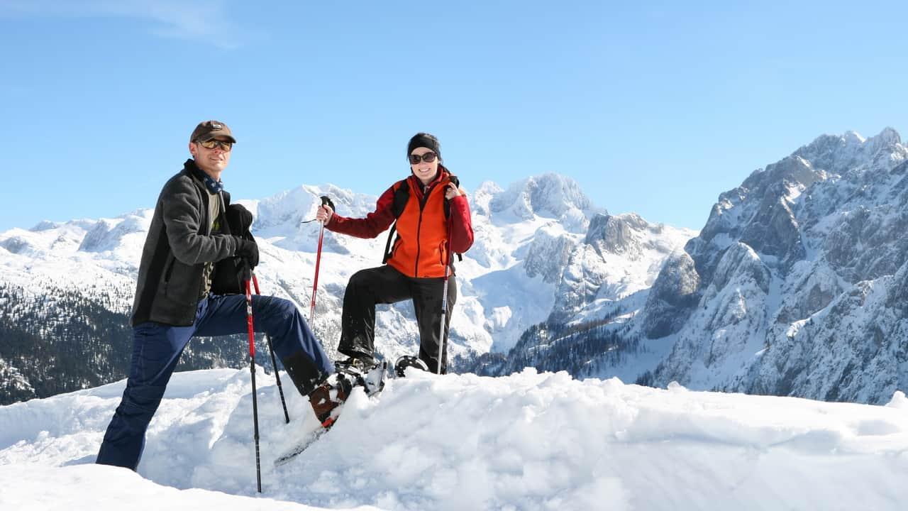 Snöskovandring vid Gosau - Dachstein Österrike - Austria Travel