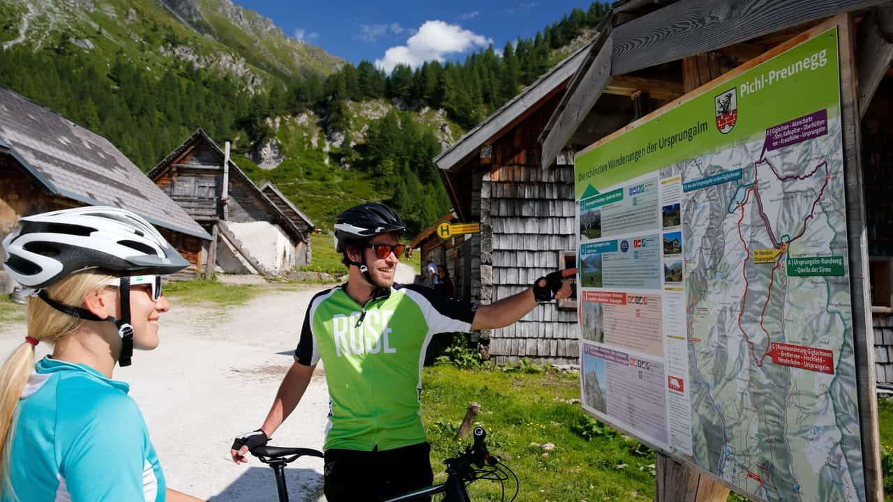 Bike-Tour runt Dachstein Österreich Österrike