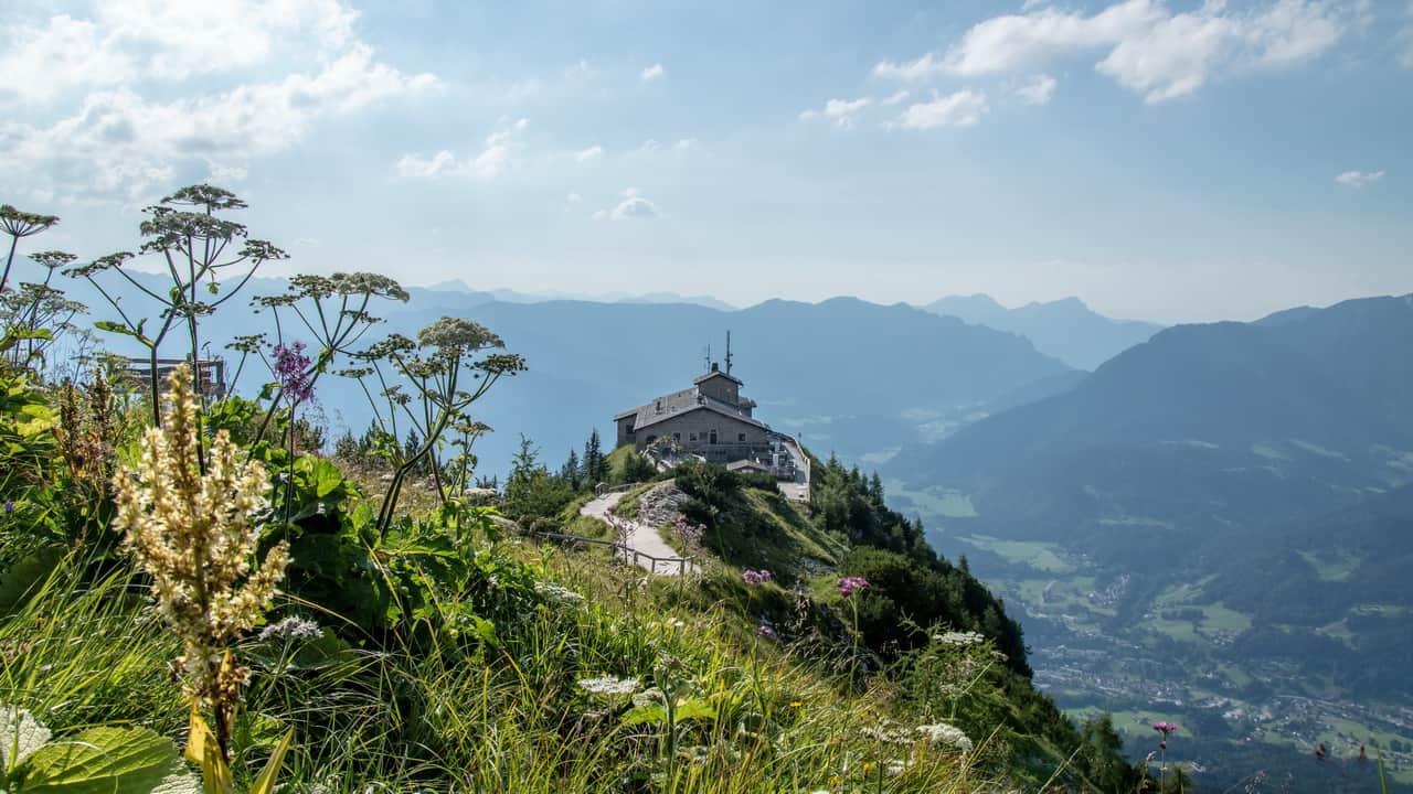 Blick på Kehlsteinhaus semester cykelsemester med Austria Travel Österrike