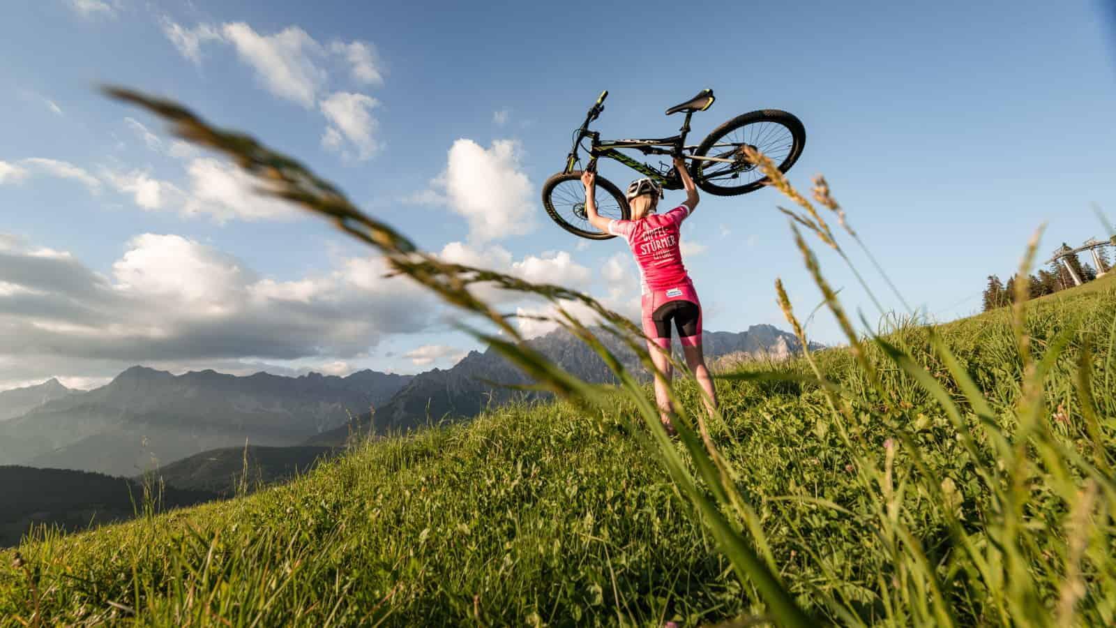 MTB vid Watzmann Hochkönig cykelsemester semester i Österrike