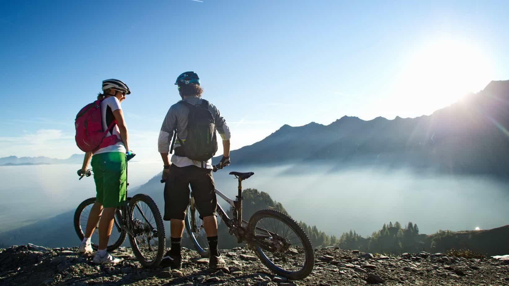 En av många fina utsikter på MTB Watzmann Hochkönig rundan - Loser - cykelsemester semester i Österrike