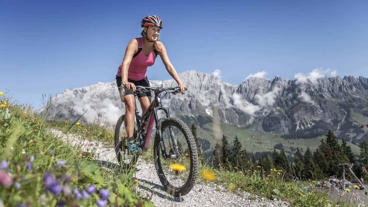 Mountainbiking i Salzburger landet MTB semester cykelsemester i Österrike