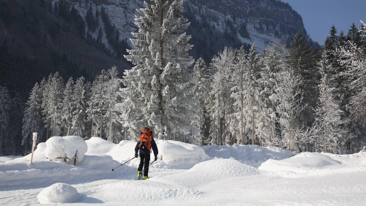 Snösko-trailen vid Rettenbachalm - Salzkammergut