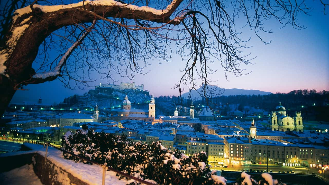 Christkindl advent julmarknad Salzburg vinter semester adventsmarknad Österrike
