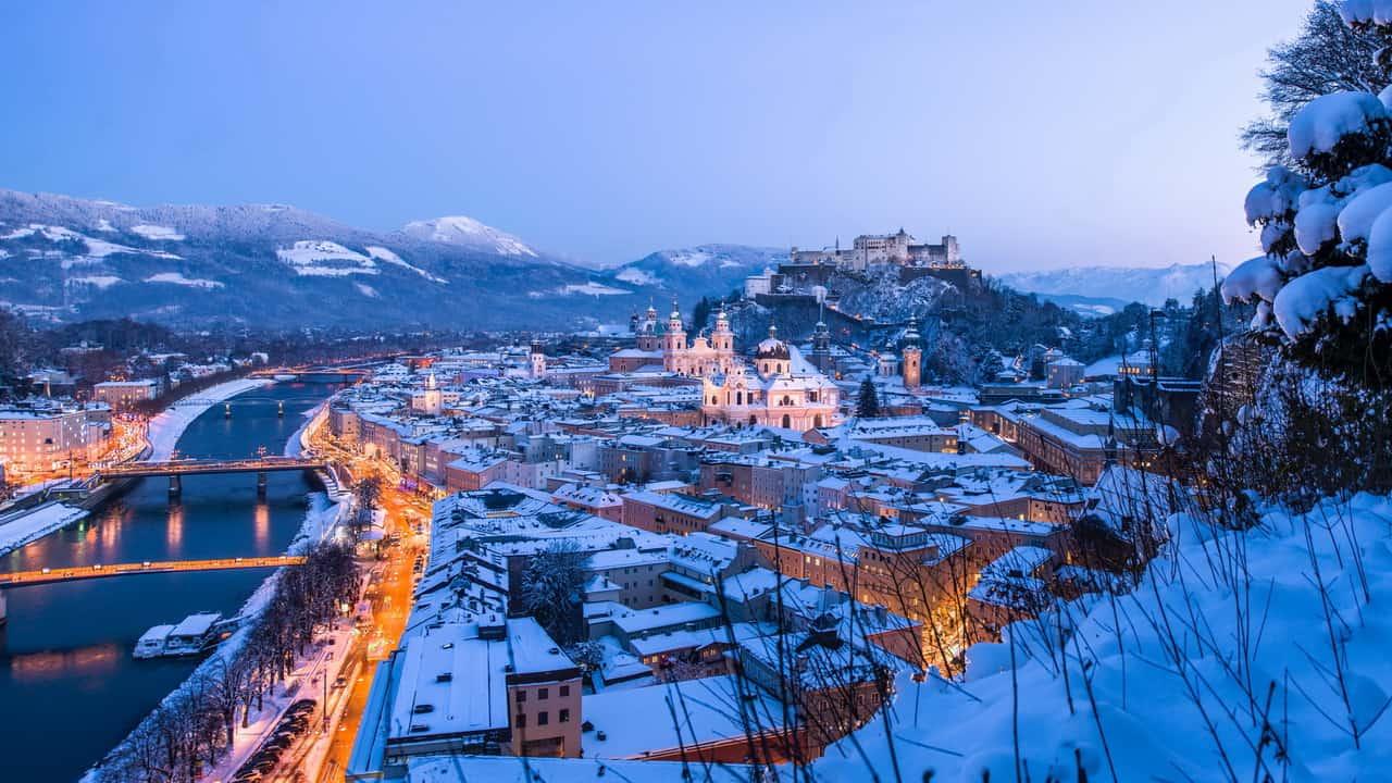advent julmarknad Salzburg vinter semester adventsmarknad Österrike Hohensalzburg fästning