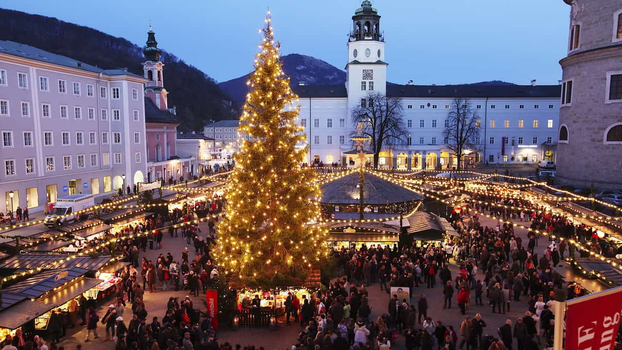 julmarknad adventsmarknad Christkindlmarkt jul advent Salzburg Österrike