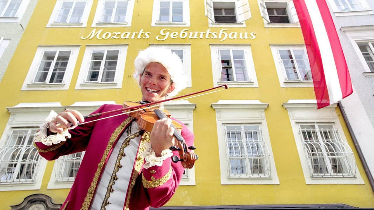 Mozart födelsehus Salzburg Österrike