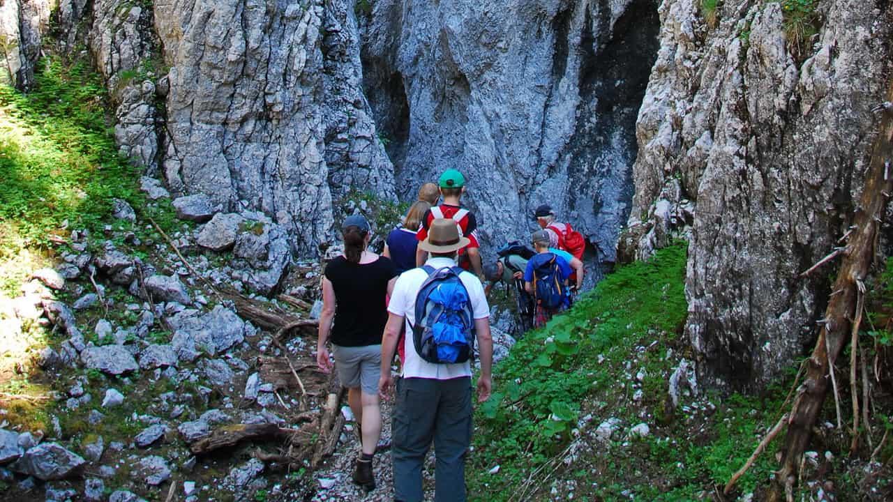Klippravin på Stoderzinken Semester i Österrike