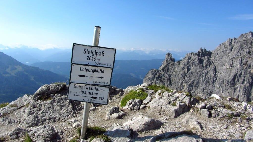 Steiglpass Salzkammergut Gosaukamm Semester i Österrike