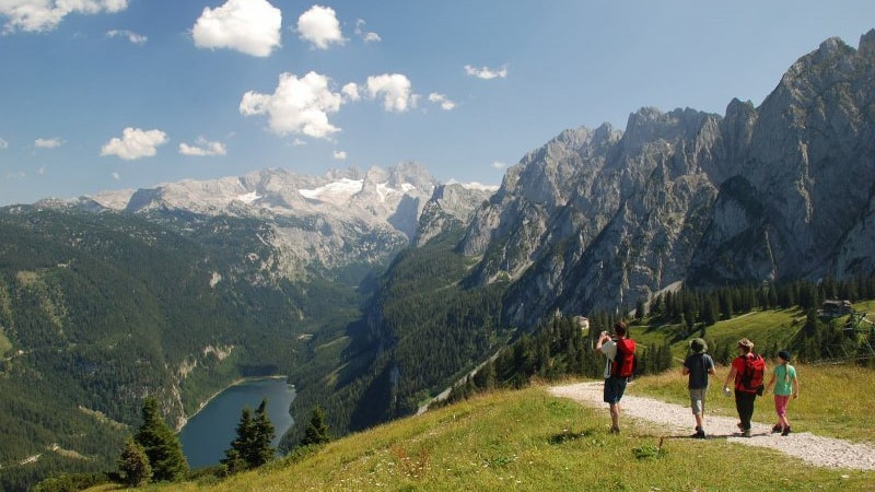 Zwieselalm i Gosau vandring semester i Österrike