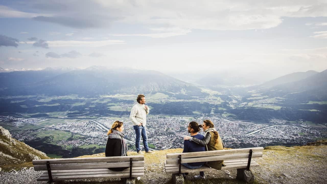 Blick mot Innsbruck Tirol Semester i Österrike