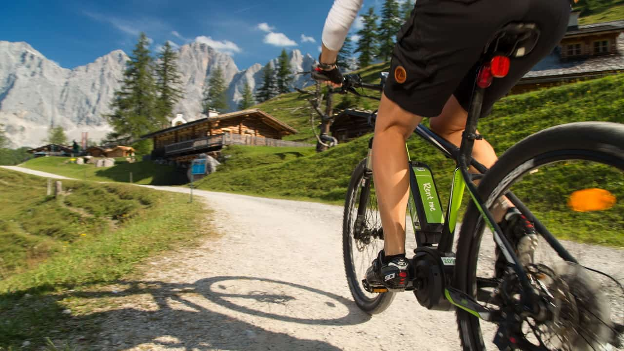 Biking i Schladming Dachstein området semester i Österrike