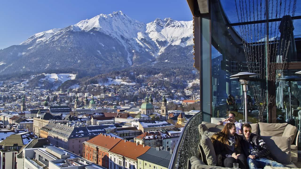 Ausblick Adlers Bar Grupp & konferens i Innsbruck - Austria Travel