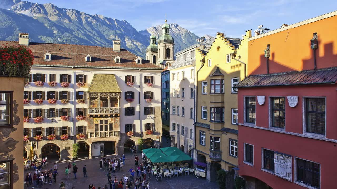 Innsbruck Altstadt Semester i Österrike Tirol