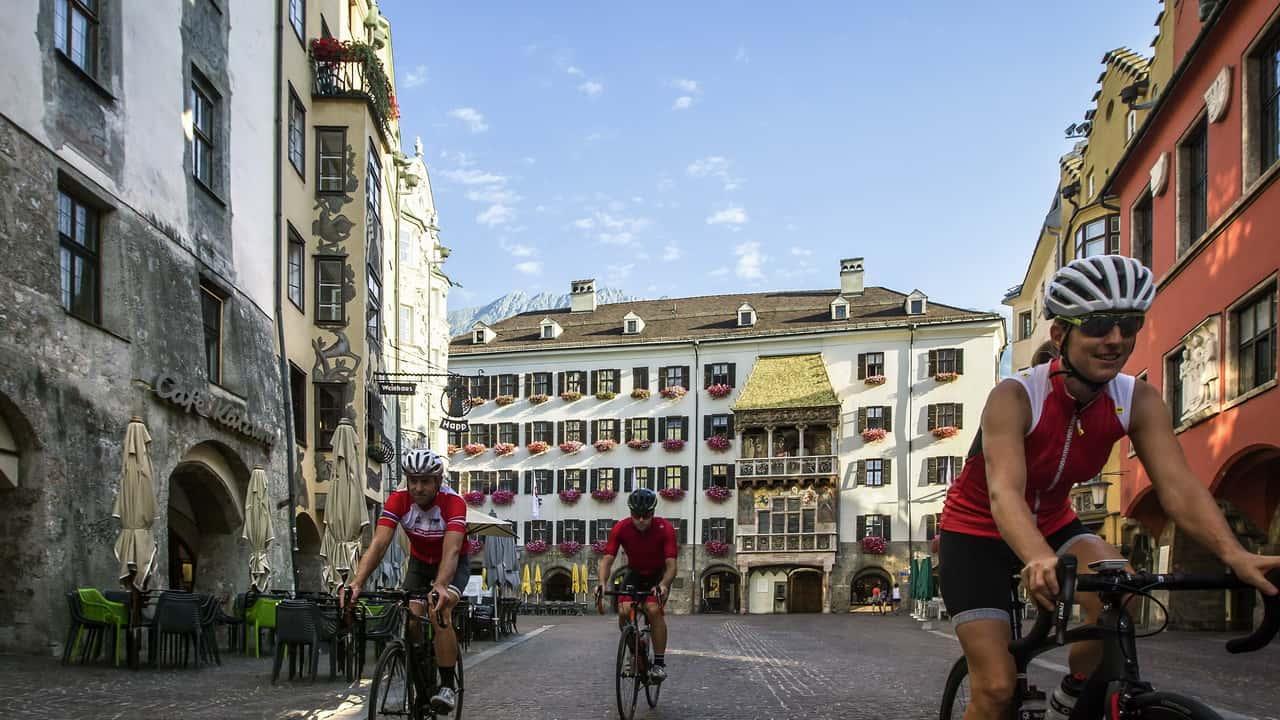 Cykling Innsbruck grupp konferens