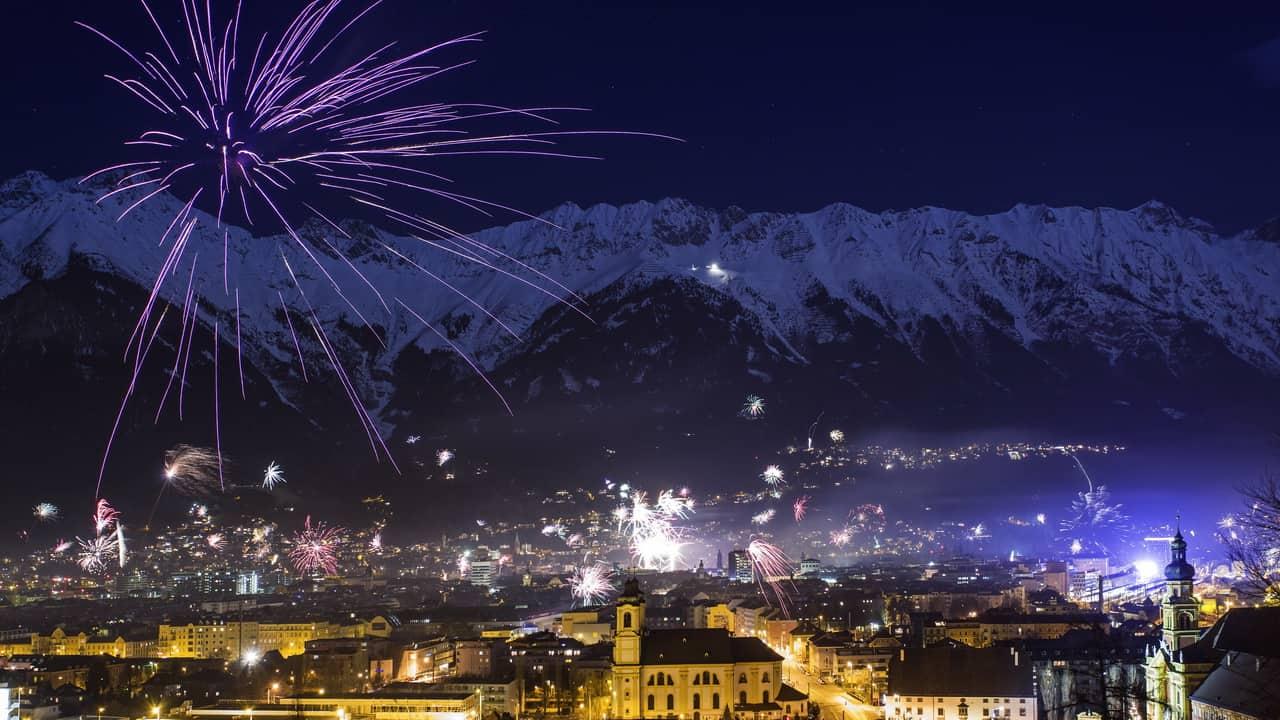 Nyårsfirande i Innsbruck Semester i Österrike Tirol