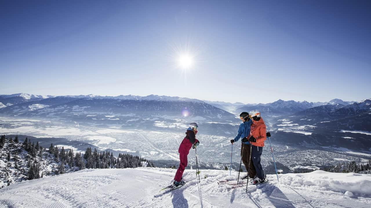Innsbruck Skifahren auf der Nordkette Semester i Österrike Tirol