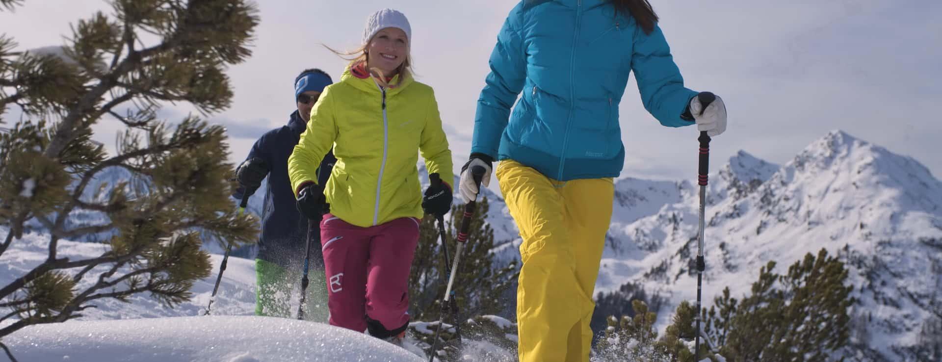 Snöskovandring Schladming Dachstein Grupp konferens semester i Österrike