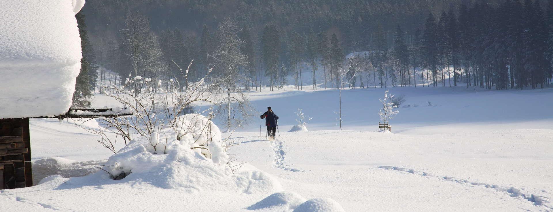 Snösko snöskovandring Rettenbachalm Österrike skidsemester vinter
