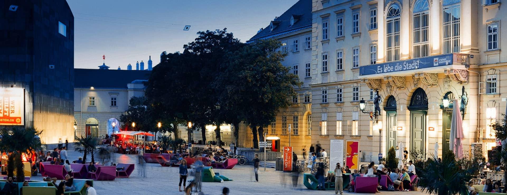 Museumskvarteret i Wien Österreich Österrike